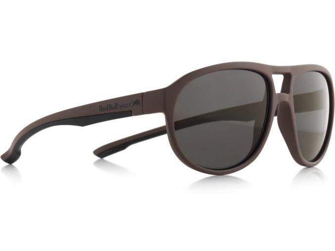 Slnečné okuliare RED BULL SPECT Sun glasses, BAIL-004P, brown, smoke POL, 59-16-145
