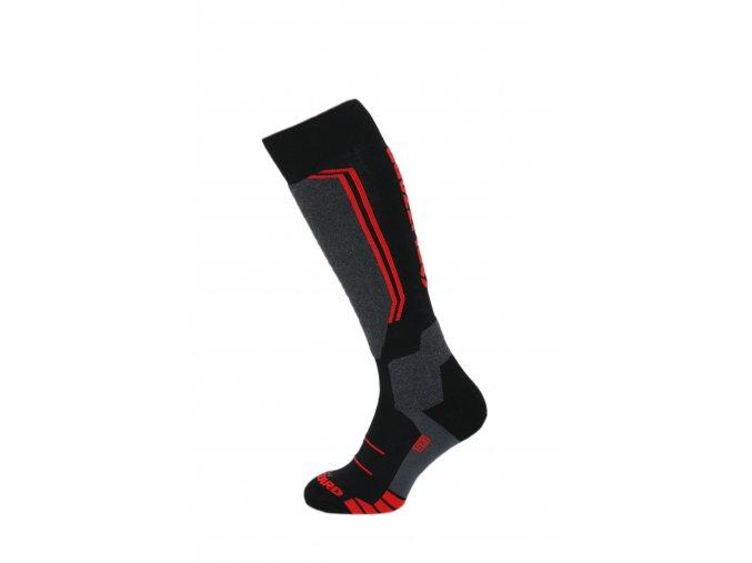 Lyžiarske ponožky BLIZZARD Allround wool ski socks, black/anthracite/red