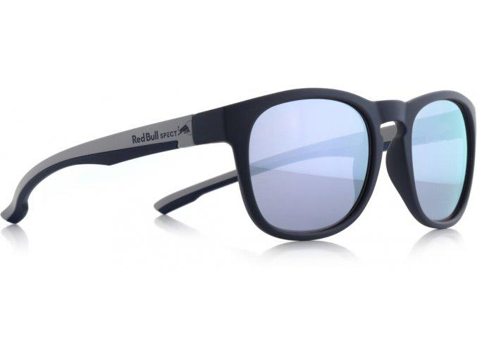 Slnečné okuliare RED BULL SPECT Sun glasses, OLLIE-003P, dark blue, smoke with lilac mirror POL, 53-20-145