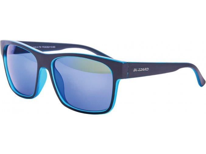 Slnečné okuliare BLIZZARD sun glasses PCSC802115, trans. sky blue matt/outside black mat, 64-17-143
