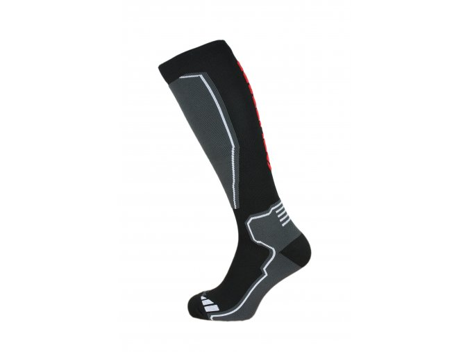 Ponožky BLIZZARD Compress 85 ski socks, black/grey