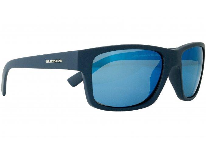 Slnečné okuliare BLIZZARD sun glasses POL602-0021 rubber dark blue, 67-17-135