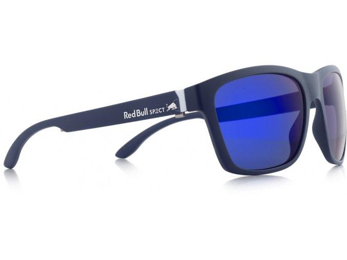 Slnečné okuliare RED BULL SPECT Sun glasses, WING2-002P, dark blue, smoke with purple mirror POL, 57-17-145