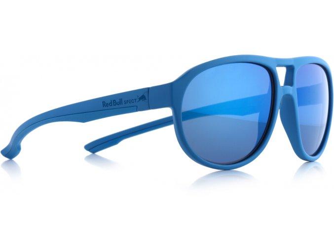 Slnečné okuliare RED BULL SPECT Sun glasses, BAIL-006P, light blue, smoke with blue mirror POL, 59-16-145