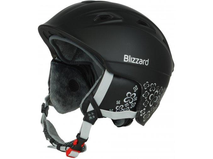 helma BLIZZARD Viva Demon ski helmet, black matt/silver flowers (Veľkosť 56-59)