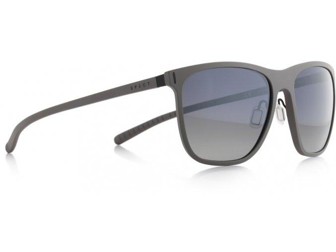 Slnečné okuliare SPECT Sun glasses, SOLID-003P, grey, smoke gradient with silver flash POL, 54-16,6-140