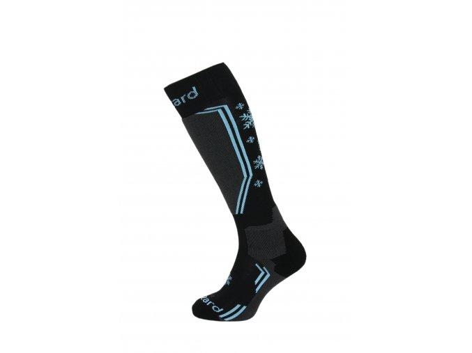 lyžařské ponožky BLIZZARD Viva Warm ski socks, black/grey/blue (Veľkosť 39-42)