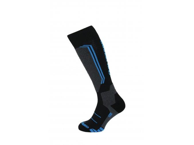 lyžařské ponožky BLIZZARD Allround wool ski socks junior, black/anthracite/blue (Veľkosť 33-35)