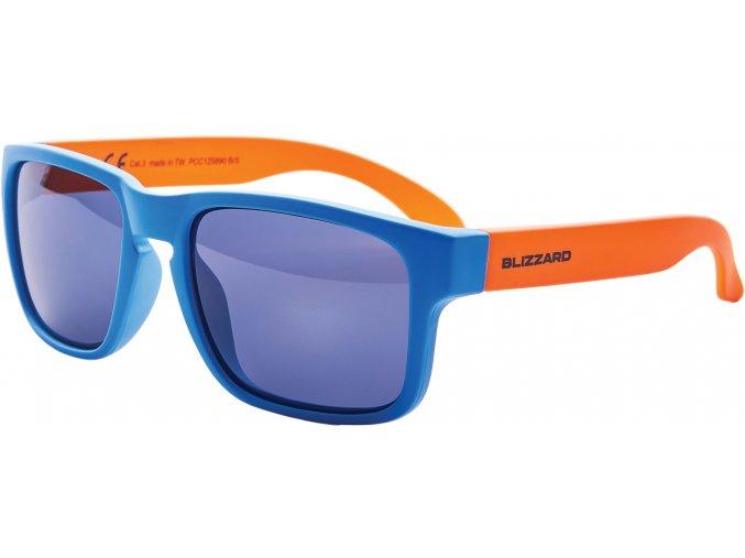 sluneční brýle BLIZZARD sun glasses PCC125890, bright blue matt , 55-15-123 (Veľkosť 55-15-123)