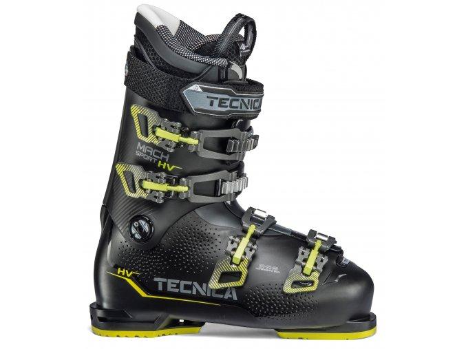lyžařské boty TECNICA Mach Sport HV 80, black/neon yellow, 19/20 (Veľkosť MP 305 = UK 11 1/2 = EU 46 1/2)