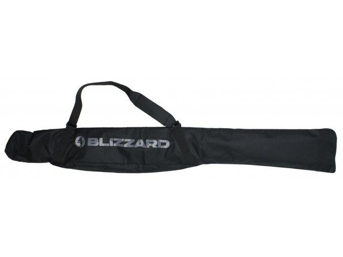 vak na lyže BLIZZARD Junior Ski bag for 1 pair, black/silver, 150 cm (Veľkosť 150 cm)