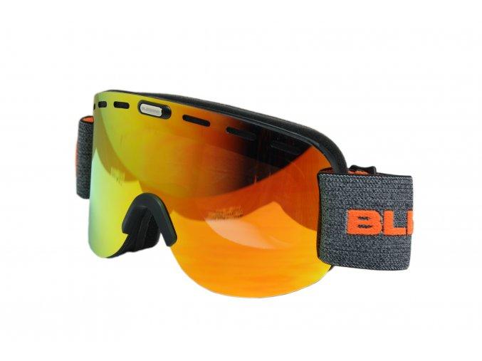 5355 lyzarske bryle blizzard ski gog 922 mdavzwo black matt orange2 silver mirror smart view