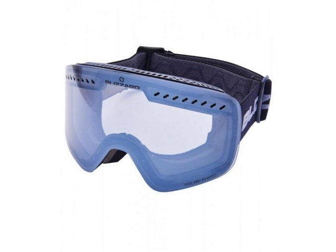 Lyžiarske okuliare BLIZZARD BLIZ Ski Gog. 983 MDAVPFPO, black matt, 1-3, silver mirror