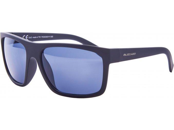 sluneční brýle BLIZZARD sun glasses PCSC603111, rubber black, 68-17-133 (Veľkosť 68-17-133)
