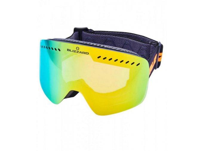 5445 1 lyziarske okuliare blizzard bliz ski gog 983 mdavzo black matt smoke2 orange revo