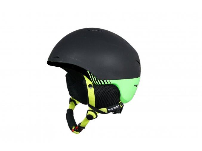 helma BLIZZARD Speed ski helmet, black matt/green matt (Veľkosť 60-63)