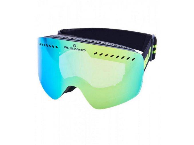 5511 1 lyziarske okuliare blizzard bliz ski gog 983 mdavzo black matt smoke2 yellow revo