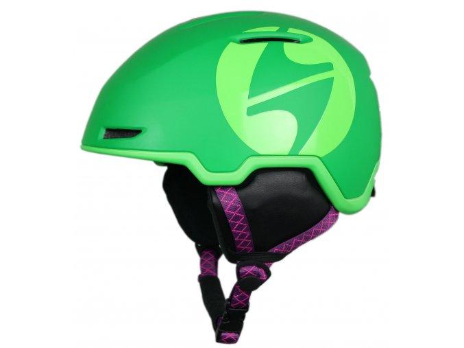 helma BLIZZARD Viper ski helmet junior, dark green matt/bright green matt (Veľkosť 48-54)