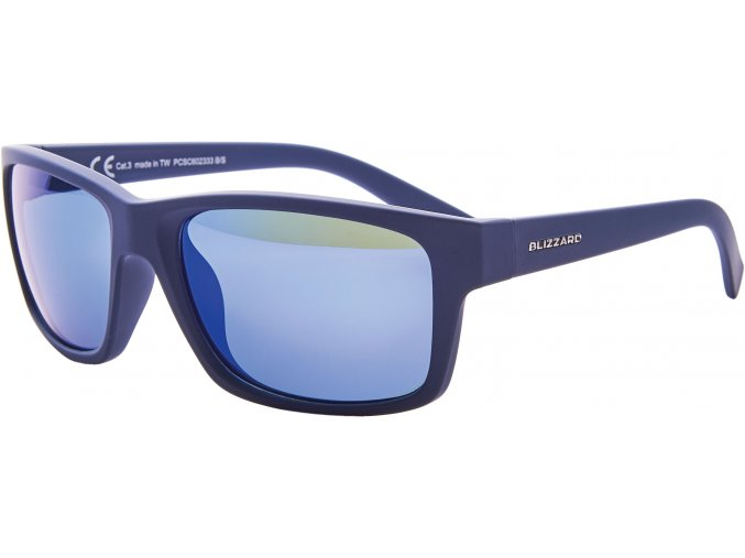sluneční brýle BLIZZARD sun glasses PCSC602333, rubber dark blue, 67-17-135 (Veľkosť 67-17-135)