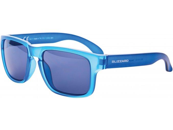 sluneční brýle BLIZZARD sun glasses PCC125333, blue trans. matt, 55-15-123 (Veľkosť 55-15-123)