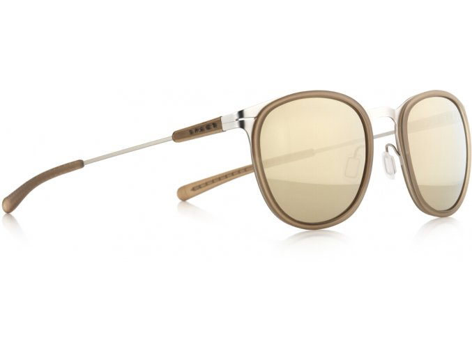 Slnečné okuliare SPECT Sun glasses, SKILL-004P, beige, smoke with gold flash POL, 50-21-140