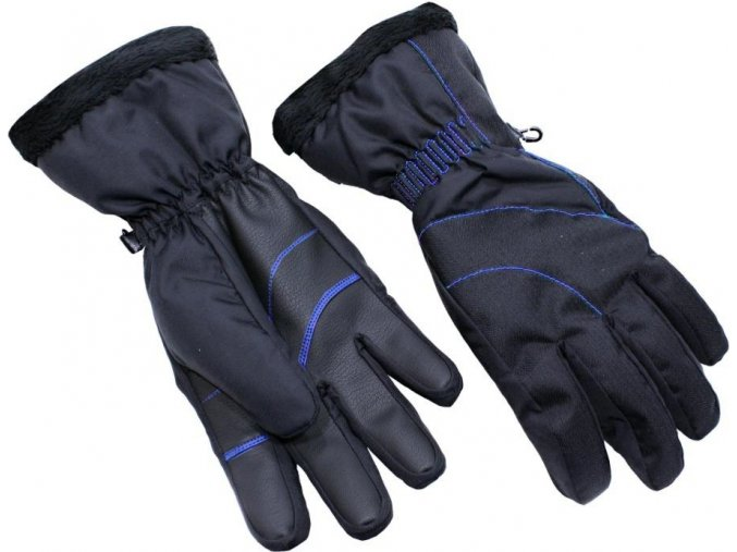 Lyžiarske rukavice BLIZZARD Viva Harmonica, black/blue