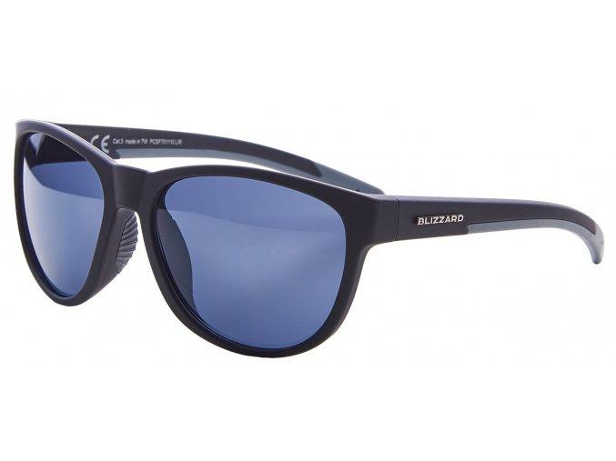 sluneční brýle BLIZZARD sun glasses PCSF701110, rubber black, 64-16-133