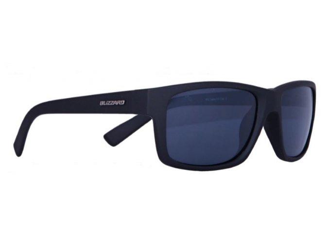 Slnečné okuliare BLIZZARD sun glasses POLSC602111, rubber black, 67-17-135