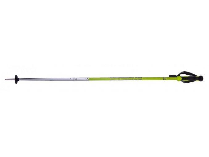 Lyžiarske paličky BLIZZARD Allmountain ski poles, neon green shiny/black/silver (Veľkosť 135)