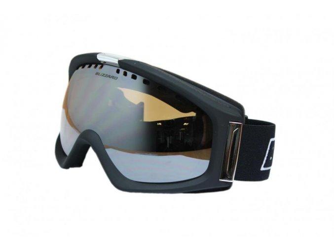 9810 lyzarske bryle blizzard bliz ski gog 933 mdavzs black matt amber 2 silver mirror