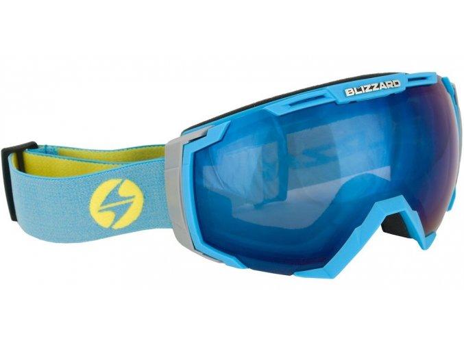 9855 lyzarske bryle blizzard bliz ski gog 926 davzso neon blue smoke2 blue mirror