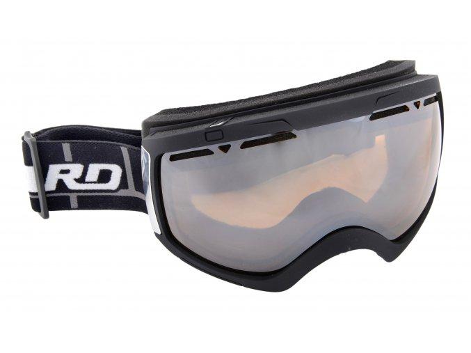 9885 lyzarske bryle blizzard ski gog 918 mdavzso black matt amber2 silver mirror
