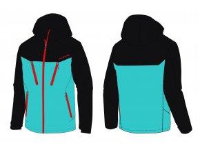 lyžařská bunda BLIZZARD Mens Ski Jacket Stelvio, bright blue/dark blue/red (Veľkosť XXL)