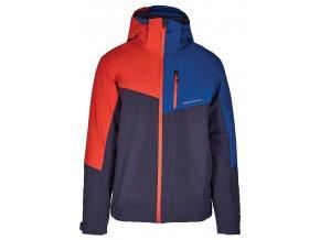 lyžařská bunda BLIZZARD Mens Ski Jacket Cervinia, grey/petroleum blue/red (Veľkosť XXL)