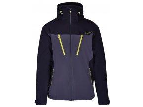 lyžařská bunda BLIZZARD Mens Ski Jacket Stelvio, grey/black/neon yellow (Veľkosť XXL)