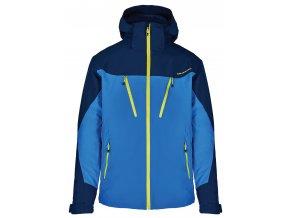 lyžařská bunda BLIZZARD Mens Ski Jacket Stelvio, bright blue/dark blue/neon green (Veľkosť XXL)