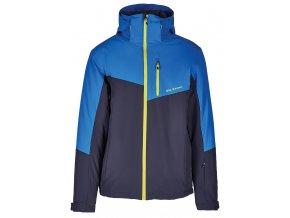 lyžařská bunda BLIZZARD Mens Ski Jacket Cervinia, grey/bright blue/neon green zipper (Veľkosť XXL)