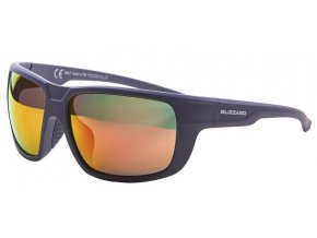 Slnečné okuliare BLIZZARD sun glasses PCS708110, rubber dark grey , 75-18-140 (Veľkosť 75-18-140)