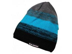 čepice BLIZZARD Cube black/blue/grey (Veľkosť UNI)