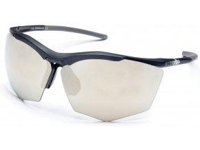 sluneční brýle RH+ Super Stylus, black/grey, smoke flash light gold/silver + orange lens