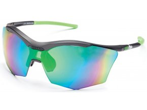 sluneční brýle RH+ Ultra Stylus, dark grey/neon green, green flash green/violet + orange lens