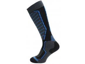 Lyžiarske ponožky BLIZZARD Profi ski socks, black/anthracite/blue