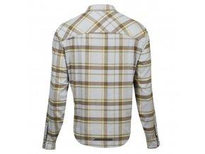Košeľa ROVE s dlhým rukávom šedo/hnedá /Vel:L
