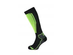 Ponožky BLIZZARD Compress 85 ski socks, black/yellow