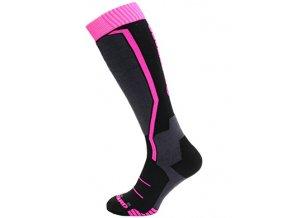lyžařské ponožky BLIZZARD Viva Flowers ski socks, black/flowers (Veľkosť 33-35)