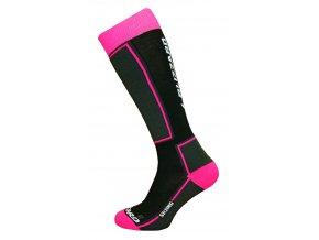 Ponožky BLIZZARD Skiing ski socks junior, black/pink