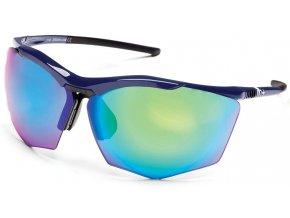 sluneční brýle RH+ Super Stylus, blue/black, green flash green/violet + orange lens