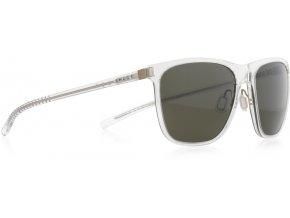 Slnečné okuliare SPECT Sun glasses, SOLID-004P, transparent, green POL, 54-16,6-140