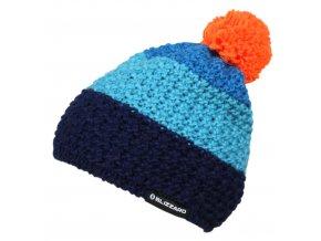 čepice BLIZZARD Tricolor, blue/navy/orange (Veľkosť UNI)