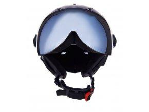 helma BLIZZARD Double Visor ski helmet, black matt, smoke lens, mirror (Veľkosť 60-63)